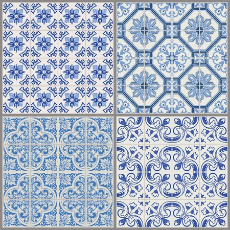 tile pattern: Seamless Vintage Background Collection - Victorian Tile in vector