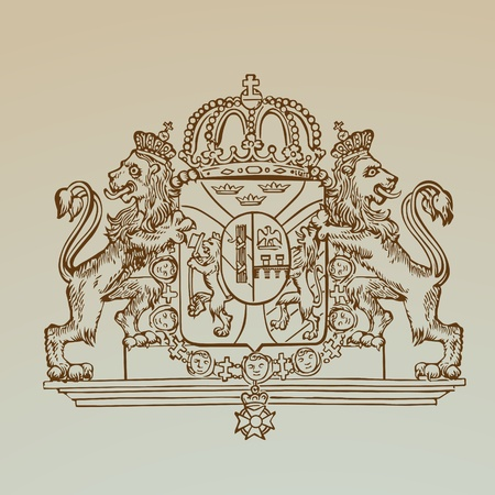 crests: Dettagliata Emblem Royalty vintage - High Quality - in formato vettoriale Vettoriali