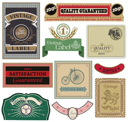 Collection of Vintage Labels Stock Vector - 13275973