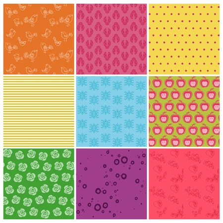 Set of seamless backgrounds Stock Vector - 13275947