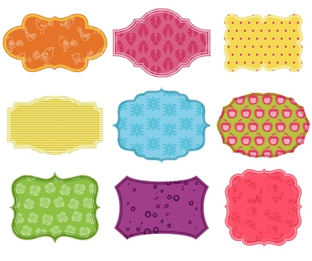 Vintage Colorful Design Elements for Scrapbook Stock Vector - 13275945