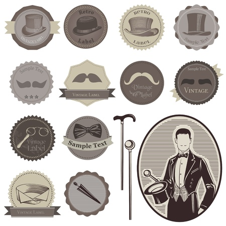 gentleman: Gentlemens Accessories Labels