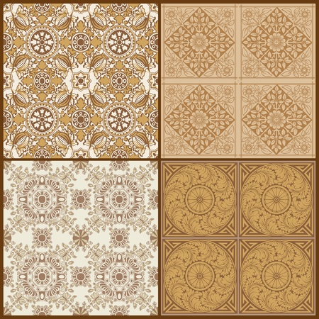 Seamless Vintage Background Collection - Victorian Tile Stock Vector - 13359204