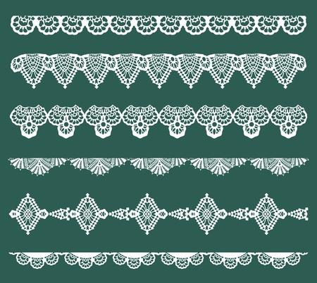 broderie: Set de rubans de dentelle - pour la conception et l'album - dans le vecteur Illustration
