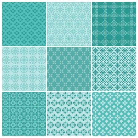 scrapbook cover: Colecci�n de fondos sin costura - Vintage - Tile para el dise�o y libro de recuerdos - en el vector Vectores
