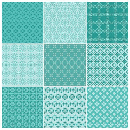 Seamless backgrounds Collection - Vintage Tile - for design and scrapbook - in vector Vector