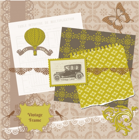 Scrapbook Design Elements - Vintage Time Set Stock Vector - 13777490