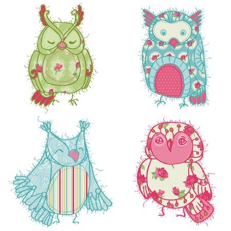 Vaus Owl Scrapbook Collection   Stock Vector - 13965301