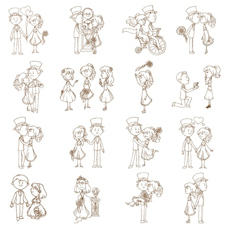Garabatos de la boda - Elementos de dise�o - Noticias de, Invitaci�n Vectores