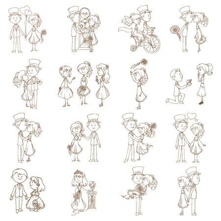 Wedding Doodles - Design Elements - for Scrapbook, Invitation  Vector