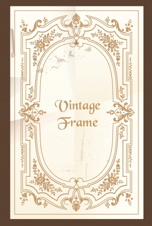 filigree swirl: Vintage frame - with place for your text