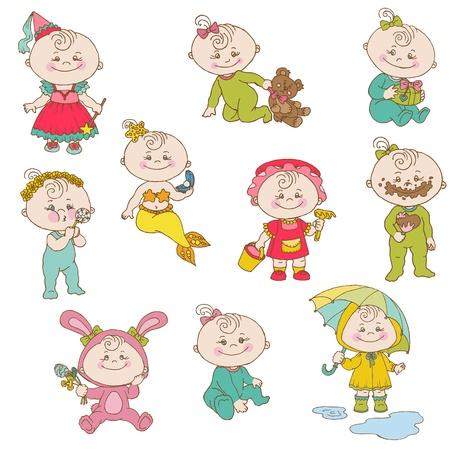 Baby Girl Cute Doodles - for design and scrapbook Stock Vector - 14269199