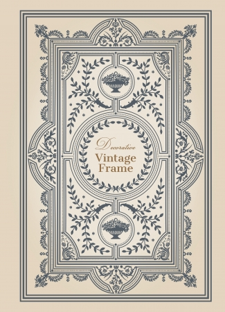 save the date: Vintage frames and design elements - with place for your text