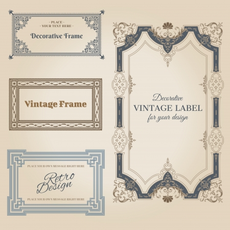 Vintage frames and design elements - with place for your text  Stock Vector - 14367736