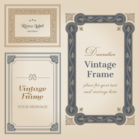 wedding frame: Vintage frames and design elements - with place for your text