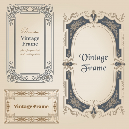 your text: Vintage frames and design elements - with place for your text