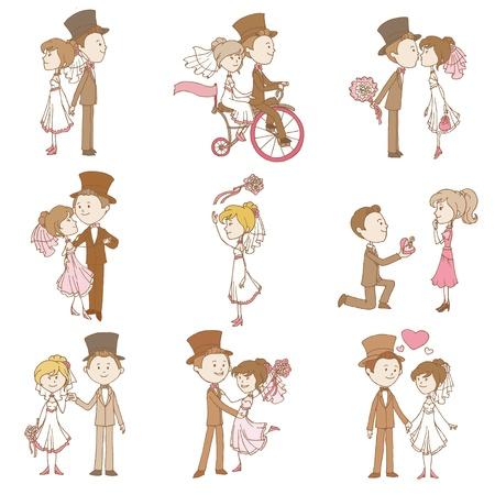 Wedding Doodles - Design Elements - voor Scrapbook, Uitnodiging in vector