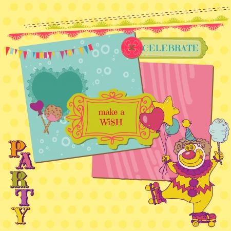 Scrapbook Design Elements - Birthday Party Child Set  Vector