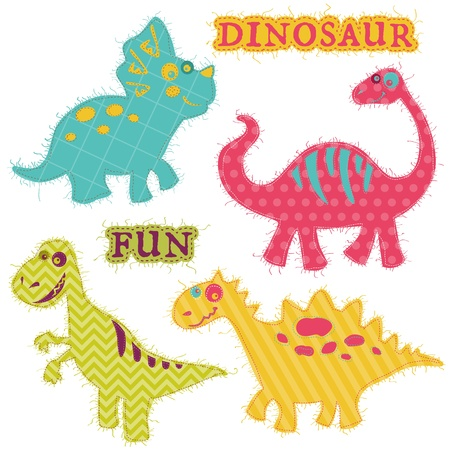 Scrapbook Design Elements - Dinosaur Set  Vector