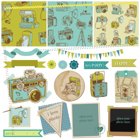 Scrapbook Design Elements - Vintage Photo Camera Scrap Stock Vector - 14896182