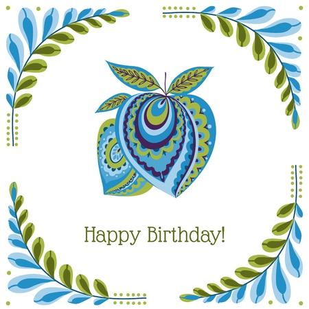 Vintage Colorful Card - for birthday, wedding, invitation, design, congratulation, scrapbook Vector