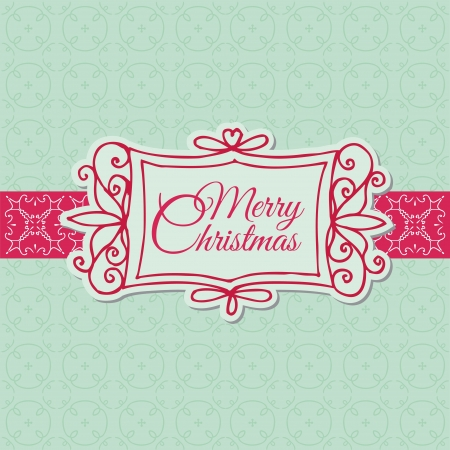 Retro Christmas Card - for scrapbook, design, invitation, greetings  Vector