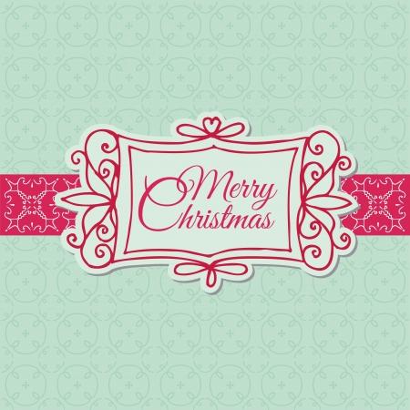 Retro Christmas Card - for scrapbook, design, invitation, greetings
