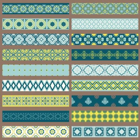Set van Linten en Borders - voor het ontwerp en plakboek
