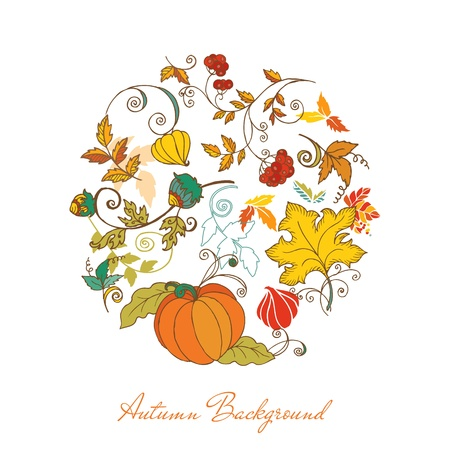 Autumn Background - for scrapbook, design Vector