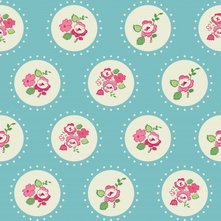 copybook: Seamless Vintage Flower Background - for design and scrapbook