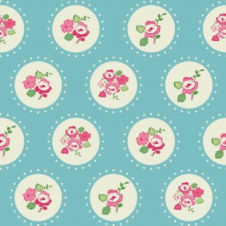 Seamless Vintage Flower Background - for design and scrapbook
