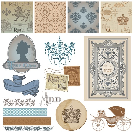 Scrapbook Design Elements - Vintage Royalty Set  Vector