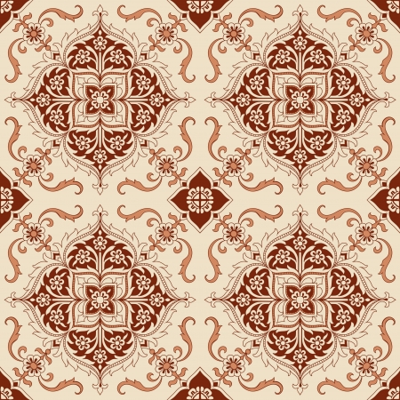 Seamless Vintage Background - Victorian Tile  Vector