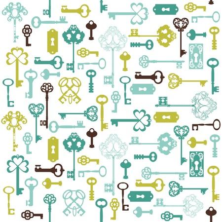 secret love: Antique Keys Background - for your design or scrapbook