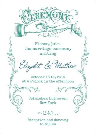 Tarjeta de la invitación de la boda del vintage - en vector