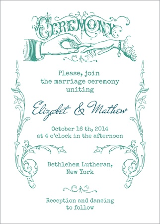 Wedding Vintage Invitation Card - in vector Stock Vector - 15571523