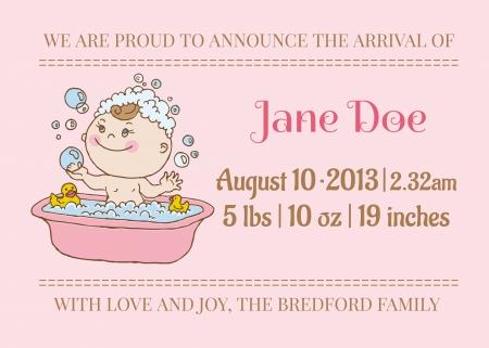 Arrivée de bébé ou de la carte Douche - avec place pour votre texte