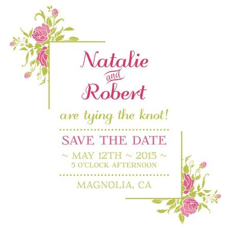 Tarjeta de la invitación de la boda - Tema Flor