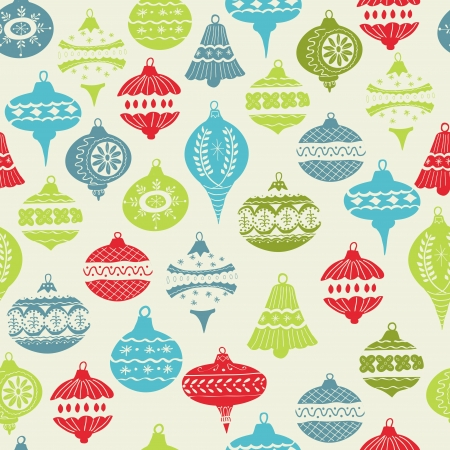 new years eve background: Vintage Christmas Background - with christmas tree balls - for design and scrapbook - in vector