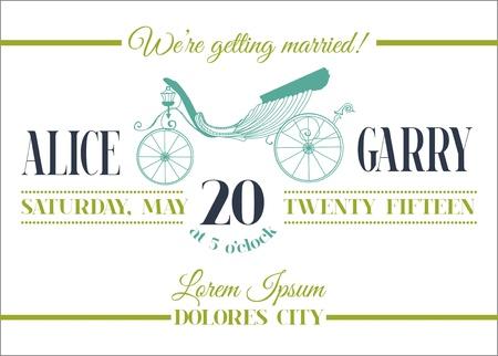 Hochzeits-Einladungs-Karte - Carriage Theme