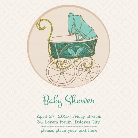 invitacion baby shower: Baby Shower o tarjeta de llegada con lugar para el texto