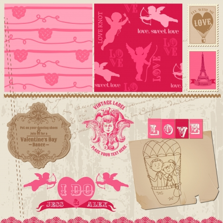 Scrapbook Design Elements - Love Set - for cards, invitation, greetings Illustration