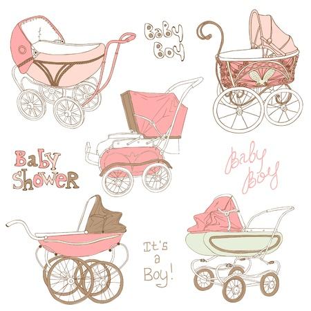 Bebé Conjunto del carro - para su diseño y libro de recuerdos