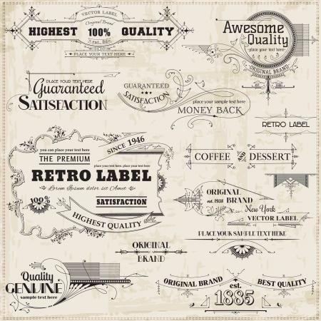 vintage: Caligráficos elementos de design e decoração da página, a coleta do quadro do