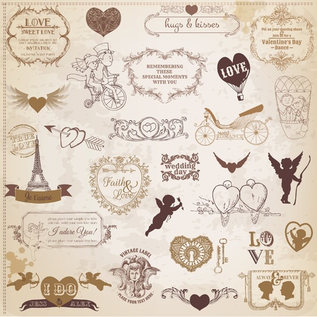 scrapbook, love, valentine, wedding, vintage, scrap, scrapbooking, invitation, calligraphy, heart, cupid, angel, frame, bird, design, element, amour, background, banner, retro,  day, romance,  valentines day, card, corner, couple,  decor, decoration, draw