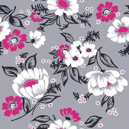 Seamless Floral Background Beautiful Set - for your design and scrapbook  Stock Vector - 17319982