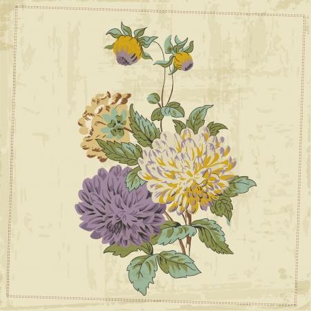 Vintage Flower Background - for design and scrapbook - in vector Stock Vector - 17454750