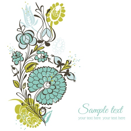 Beautiful Floral Background - retro flowers - for wedding, scrapbook, design - in vector Vector