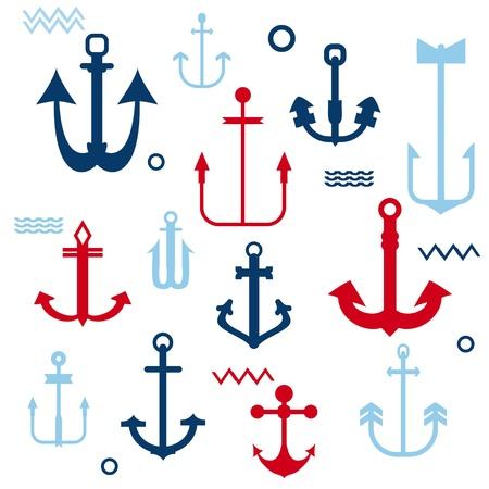 ancla: Colección Anchor Various - para su logotipo, diseño, libro de recuerdos