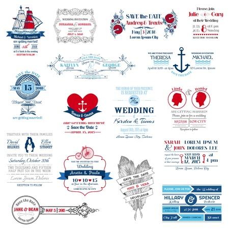 Colección de la boda invitación - para el diseño, libro de recuerdos